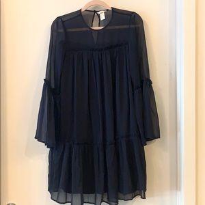 Boho Navy blue dress